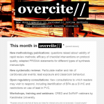 overcite: the new newsletter from policyfromscience.com